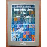 Introducción A La Sociología Theodor W. Adorno (frankfurt)