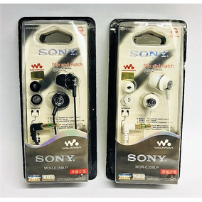 Audifonos Sony Modelo Mdr-e358lp Walkman Blanco Y Negro