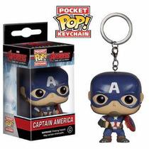 Capitão América Vingadores Chaveiro Funko Pop - Original