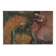 Postal Rompecabezas Bailarinas De Edgar Degas