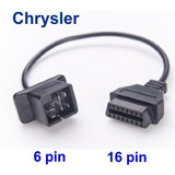 Cable Adaptador. Chrysler 6 A 16 Pines Obd2. Garageobd