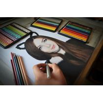Arte, Retratos Y Dibujos A Color (28 X 36 Cm 2 Personas).