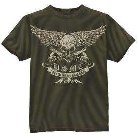Camiseta Rothco Estampada Vintage Usmc Death Before Dishonor