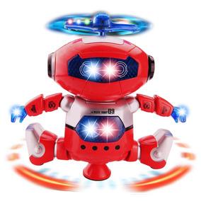 Robô Astronauta Espacial, Toca Musica, Dança, Com Luz Led