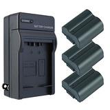 Panasonic Lumix Dmc-fz18 Batería (3-pack) Amp; Kit Cargador
