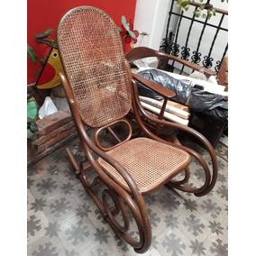antiguedades muebles mecedora esterilla - Mecedoras Modernas