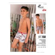 Pacl X 2 Boxer Niño ALG Y Lycra Shedil T 6 Al 14