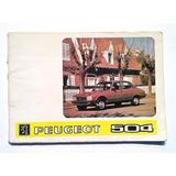 Manual De Conducción Y Caracteristicas Peugeot 504 Año 1984
