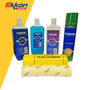 Kit Limpieza Auto Moto Shampoo Silicona Paño Plas Chamois