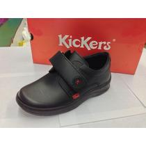 Zapatos Escolares Kickers Para Niños 100% Cuero Cocidos 2016