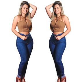 Oferta Calça Jeans Escura Hot Pants Skinny Planet Girls