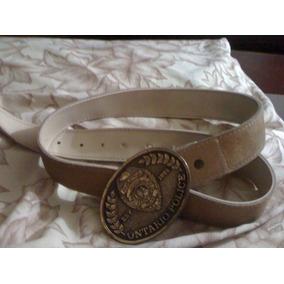 Cinturon Beige Y Hebilla Ontario Police