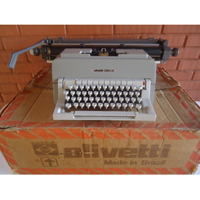 Máquina Escrever Olivetti Línea 98 - Na Caixa - Novíssima