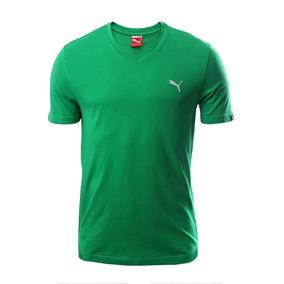 Playera Puma Essential Cuello V Para Hombre- Ligera 610e1aa3f0fa9