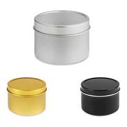 12 Latas De Metal 4 Oz (120 Ml) Multiusos Velas, Cremas, Etc