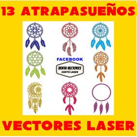 Pack De Vectores Corte Laser - 13 Atrapasueños Calados