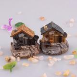1 Casa Miniatura Terrários Maquete Mini Jardim Casinha 3,7cm