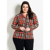 Camisa Blusa Manga Longa Feminina Moda Gordinha Plus Size