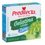 Gelatina Em Pó Limão Zero Açúcar 12g Predilecta