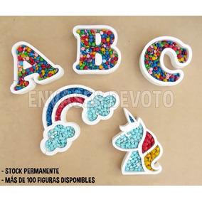 Letras Y Figuras Huecas 27cm Golosinas Candy Bar - Souvenir