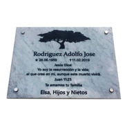 Placa De Mármol Grabada Para Cementerio 60x40cm.