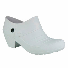 Sapato Branco Enfermagem Fechado Boa Onda Macio Frete Gratis
