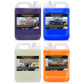 Limpa Baú 5l + Solupan 5l + Flotador 5l + Shampoo Cera 5l