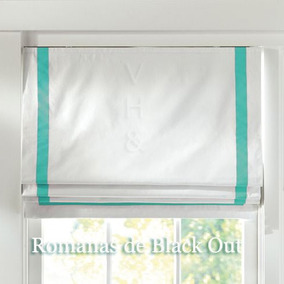 Cortina Romana Black Out Franjas Estampadas Blackout Americ