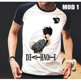 Camisa/camiseta Raglan Anime Death Note Pronta Entrega