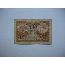 Antiguo Billete De Un Franco Francés - 1922