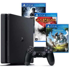 Playstation 4 Slim Sony 1tb Ps4 Original + 3 Jogos Opcionais