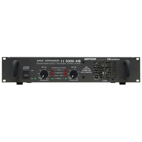 Amplificador Estéreo 2 Canais 825w W Power 3300 - Ciclotron