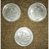 Trio Monedas Conmemorativa 50 Cts 2010