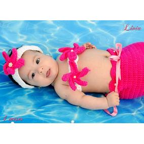 Newborn Recem Nascido Sereia Crochê Fotografia
