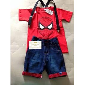 Roupa Infantil Fantasia Homem Aranha Spider Man