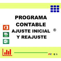 Programa Contable Ajuste Inicial Y Reajuste