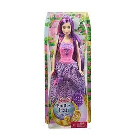 Barbie Reino De Peinados Magicos Surtido Cabello Morado
