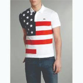 1db2f5200a9d5 Camisa Polo Lacoste Original Estados Unidos Tam. M Queima