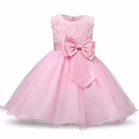 Vestido Festa Infantil Rosa
