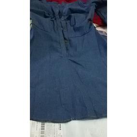 Mini Vestido Tipo Jeans Pequeno Defeito Na Bainha Tamanho P