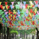 125 Pies Multicolores Triángulo Banderín Nylon Banderas