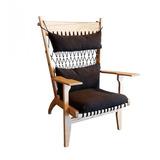 Lounge Chair Escandinavo Madera Clara