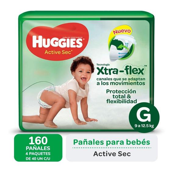 Pa?ales Huggies Active Sec Xtra-flex Ultrapack Pack X 4