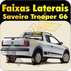 Adesivos Faixas Laterais Da Nova Saveiro Trooper G6 + Brinde