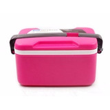 Marmita Marmitex 2 Compartimentos Rosa Microondas Freezer