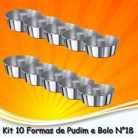 Forma De Pudim Bolo Em Alumínio N°18 - Kit 10 Pçs