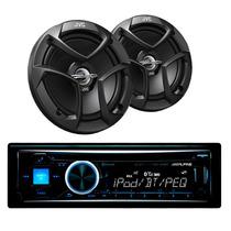 Paquete Auto Stereo Cd Alpine Cde-hd143bt + 2 Bocinas Jvc
