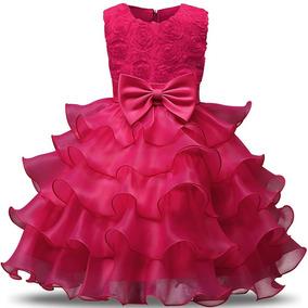 Vestido Infantil Babado Princesa Aniversário Preço Baixo