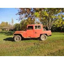 Jeep Ika 1974, 4x4 Doble Cabina,titular Papeles Al Dia