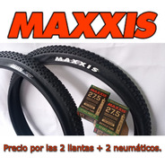 2 Llantas Mtb Maxxis Ikon 27.5*2.20, + 2 Neumáticos Maxxis